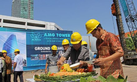 Ground Breaking Perkantoran AMG Tower