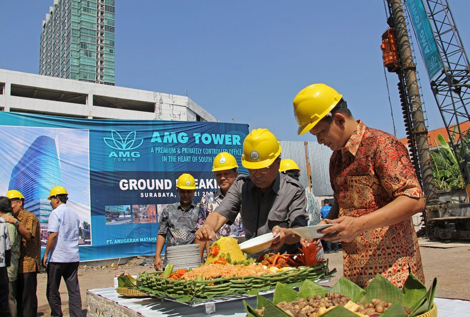 Ground Breaking Perkantoran AMG Tower