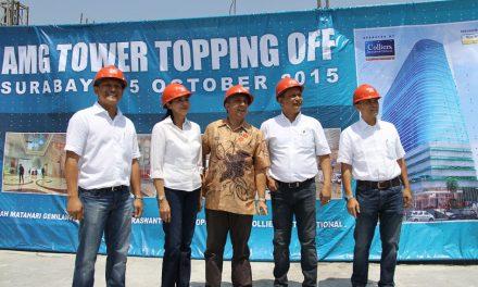 Topping Off Perkantoran AMG Tower – Surabaya