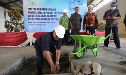 Peletakan Batu Pertama Pondasi Mesin Pabrik Pupuk NPK (Pengembangan Tahap II) PT DAL
